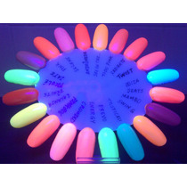Kit 20 Esmaltes Fluorescentes Neon - Brilham No Escuro!!!
