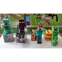 Minecraft 2 Kits C/24 Peças Boneco Articulado Frete Grátis