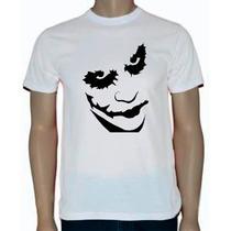 Camisa 100% Algodão - Estampa Coringa Em Silk-screen