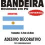 Adesivo Bandeira Argentina Resinada 5,7 X 3,8cm