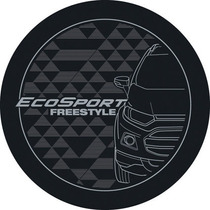 Capa Roda Estepe Ecosport 2013 - Freestyle - Cinza E Prata