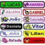 Super Kit C/10 Etiquetas Tecido Personalizadas Com Seu Nome
