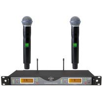 Atl-audio Ugx5 Beta58 Duplo (2 Microfones) Sem Fio, Em 12x