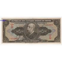 * C065 5 Cruzeiros Autografada 2ª Est. 1950 C-065 Mbc/sob *