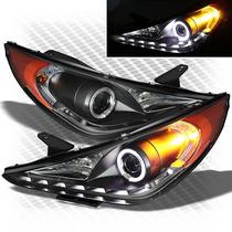 Tunin Import Par Farol Projector Drl R8 Hyundai Sonata 11/14