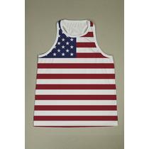 Camiseta Regata Nadador Masc. Usa 9 - Estados Unidos - Eua