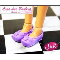 Lindo Sapato Lilás Para Boneca Susi Antiga ! * Sapatinho