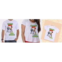 Camisetas Pai, Mãe E Filho Aniversários Toy Story