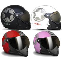 Capacete Moto Peels F21 Navy C/ 2 Viseiras Juntas Promoção
