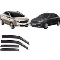 Jgo Calha De Chuva Acrilica Ford Ka Hatch Ou Sedan 2014 2015