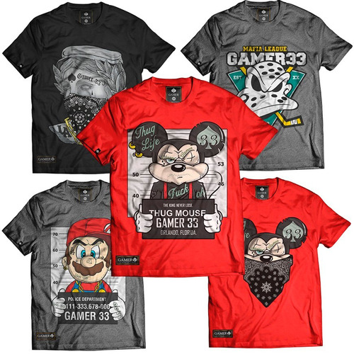 a89a24dfeb6cc Kit 10 Camiseta Camisa Atacado Rap Thug King Fret Gratis Top R 381 ...