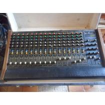 Mesa De Som Emc-16 Canais-modelo Ab-1.600 Com Case(wf)