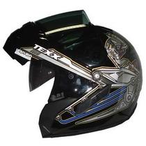 Capacete Moto Mercurio Double Vision Texx, Viseira Oculos