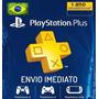 Cartão Psn Playstation Plus 12 Meses Brasil Ps3 Ps4 - 1 Ano