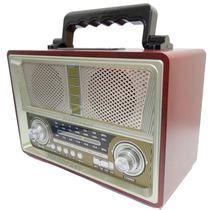 Caixa De Som Antiga Vintage Retro Radio Am Fm Usb Qualidade