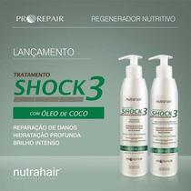 Kit Shock 3 Com Óleo De Coco - 300ml - Nutra Hair