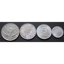 Lote 4 Moedas Diferentes - Burundi 1 - 50 Francs - Fc