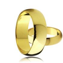 Par Alianças 6mm Folheada A Ouro 18k Casamento Noivado