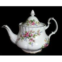 Lindo E Antigo Bule Inglês Gde Chá Royal Albert Moss Rose !!