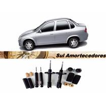 4 Amortecedor Corsa Sedan + 4 Kit Suspensão