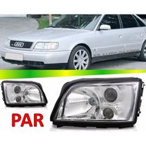Par Farol Audi A6 1994 1995 1996 Sem Auxiliar