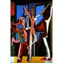 Pintura Abstrata A Dança Mônaco 1925 Pintor Picasso Tela Rep