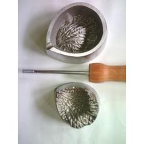 Frisador De Flor Em Alumínio - Pétala Da Rosa Média