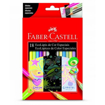 Lápis De Cor 18 Cores Especiais Faber Castell 120918