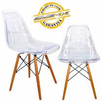 Cadeira Acrílico Transparente Eames Design Transparente Dsw