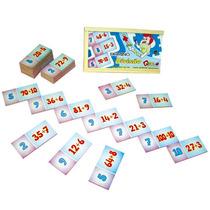 Jogo Domino Divisão Cod. 1035 Carlu 28 Peças Em Mdf + Nf