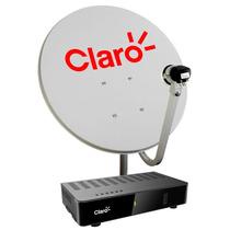 Kit Antena Parabólica E Receptor Digital Claro Tv Livre