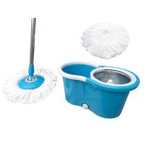 Balde Spin Mop De Limpeza Espremedor Cesto Giratorio Inox