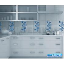 Adesivo Decorativo De Parede De Azulejos Kit Floral, Cozinha