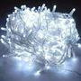 produto Pisca Natal 8 Funções Led Branco 220v 10m 1042 Fio Transpare