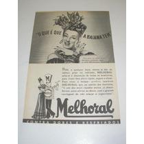 ( L 290/ P ) Propaganda Antiga Melhoral Carmem Miranda