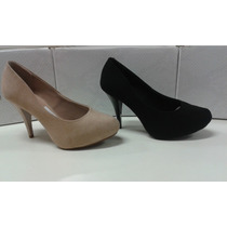 Sapato Beira Rio Meia Pata 4080.750 - Preto Nude Liquidação