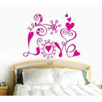Adesivo Decorativo Amor Love Coração 58 Cm X 75 Cm - Cod 7m