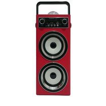 Caixa De Som Speaker Ecopower Ep-2553 Vermelho Fm/usb/aux/sd