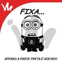 Adesivo Minion Fixa Rebaixado! Socado Carro Jdm Euro Fixa!