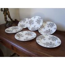 Pratos Antigos De Sobremesa Da Porcelana Schmidt
