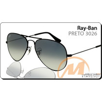 Rb Aviador 3026 ( Grafite Com Lentes Pretas ) Exclusivo
