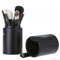Kit Com 12 Pincéis Pincel + Case Copo Excelente Qualidade