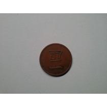 Moeda Japão 1 Rin 1873 Cobre