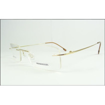 Armação Oculos Grau Titanio Dobradiça Dourada Sem Aro A602