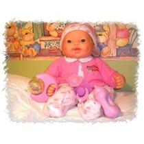 Boneca Bebe Expressão Real, Chora,ri, Ronca E Dorme