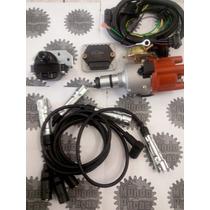 Kit Ignição Eletrônica + Cabo De Vela P/ Vw Fusca Kombi
