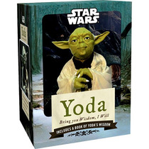 Kit Estátua Yoda E Livro Bring You Wisdom, I Will. Star Wars