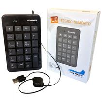 Teclado Numerico Usb C/ Cabo Retratil Mymax Mact-skb301bk