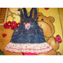 Vestido Jeans Para Bebê Lindo Tamanho P Semi Novo Perfeito