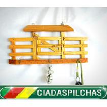 Porteira Porta Chaves Em Madeira